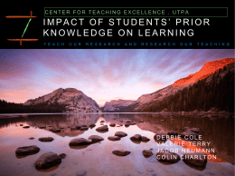 impact of students' prior knowledge on learning