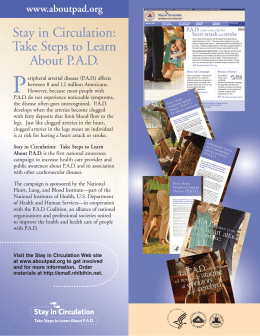 Stay in Circulation: Take Steps to Learn About P.A.D.