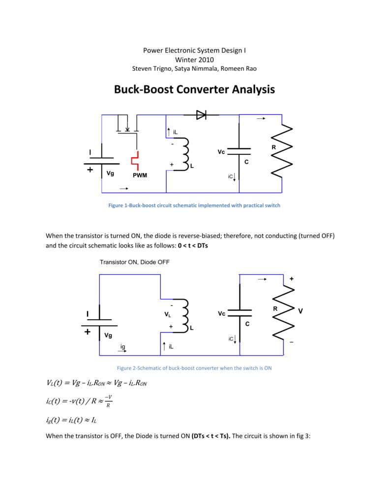 Awe Inspiring Buck Boost Converter Analysis Wiring Cloud Hisonuggs Outletorg