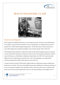 BIAS IN DIAGNOSIS: CLASS