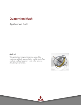 Quaternion Math