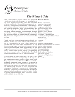 The Winter's Tale - Shakespeare Resource Center