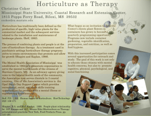 Horticulture as Therapy - Mississippi State University Extension