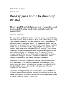 Banksy goes home to shake-up Bristol