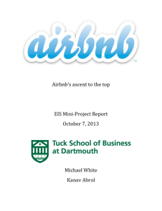 Airbnb's ascent to the top EIS Mini-Project Report October 7, 2013