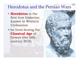 Herodotus and the Persian Wars