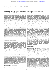 Giving drugs per rectum for systemic effect