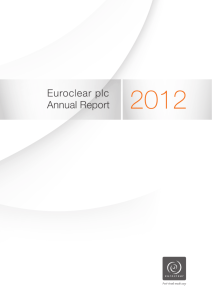 Euroclear plc Annual Report 2012
