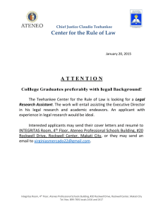 Ateneo Job Advertisement for Legal Research