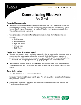 Communicating Effectively Fact Sheet