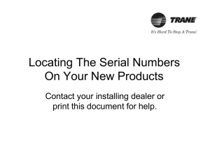 Locating The Serial Numbers On Your New Products