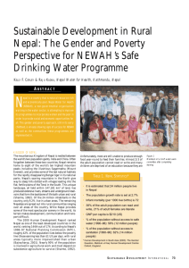 Sustainable Development in Rural Nepal: The Gender and Poverty