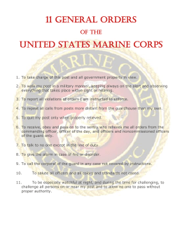 11 GENERAL ORDERS UNITED STATES MARINE CORPS