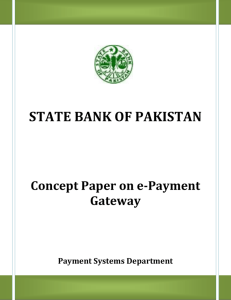 E-Payment Gateway - State Bank of Pakistan