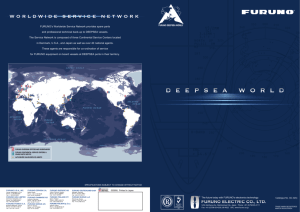 FURUNO's Worldwide Service Network provides spare parts and