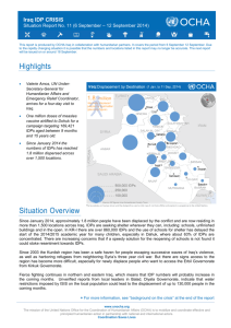 Iraq IDP Crisis Situation Report No. 11