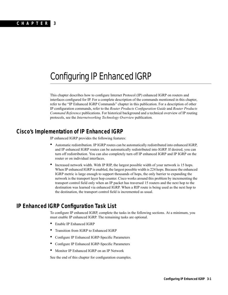 Configuring IP Enhanced IGRP