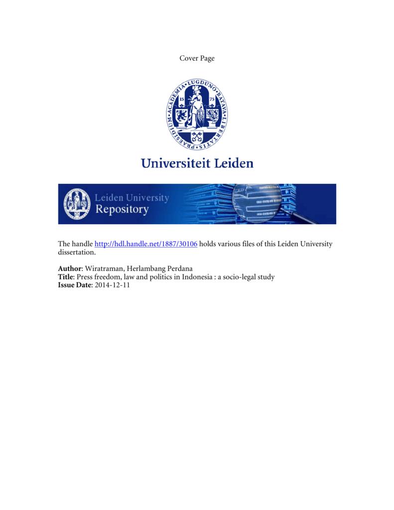 Full Text - Universiteit Leiden