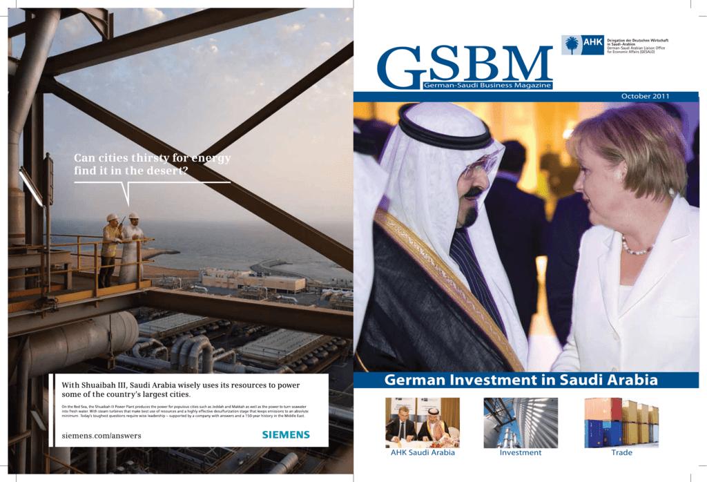 German Investment in Saudi Arabia - AHK Saudi