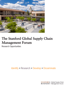 The Stanford Global Supply Chain Management Forum