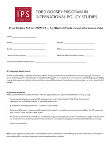 GSB-IPS Application for Current GSB Students