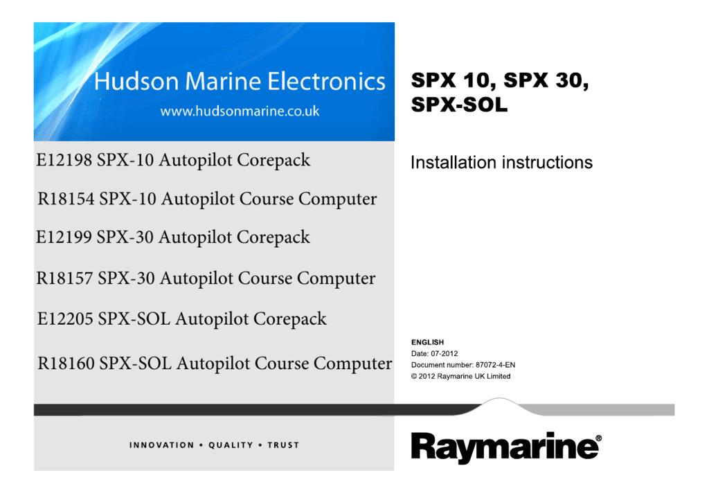 E12198 SPX-10 Autopilot Corepack R18154 SPX