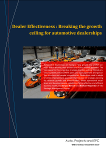 Dealer Effectiveness : Breaking the growth ceiling for automotive