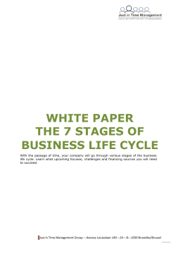 WHITE PAPER THE 7 STAGES OF BUSINESS LIFE CYCLE