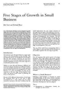 Five Stages of Growth in Small Business