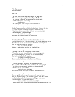 "poetry unit section ballad narrative poetry ""the highwayman the highwayman"