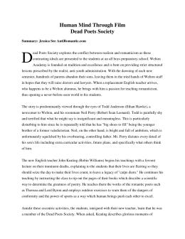 essays on dead poets society