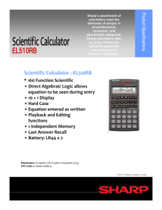 Scientific Calculator –EL510RB