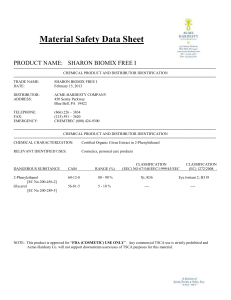 Sharon Biomix Free I MSDS
