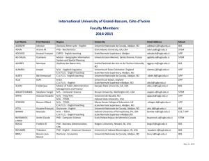 to view a complete listing of IUGB faculty members.