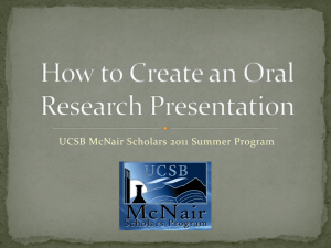How to Create a Research Presentation