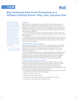 Big Contextual Data Event Processing on a Software Defined Server