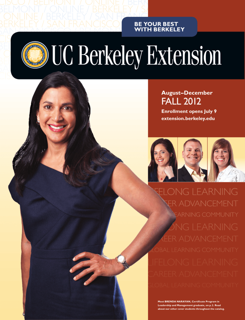 Fall 2012 Catalog - UC Berkeley Extension