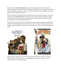 Alfred University's Drawn to Diversity uses non