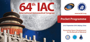 IAC 2013 Pocket Programme - International Astronautical Federation