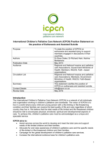 ICPCN Position Paper on Euthanasia in Children's Palliative Care