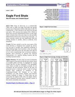 Eagle Ford Shale - Scotia Howard Weil
