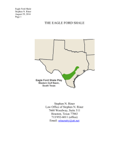 THE EAGLE FORD SHALE