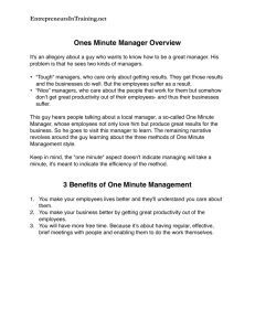 1 Minute Manager Summary pdf