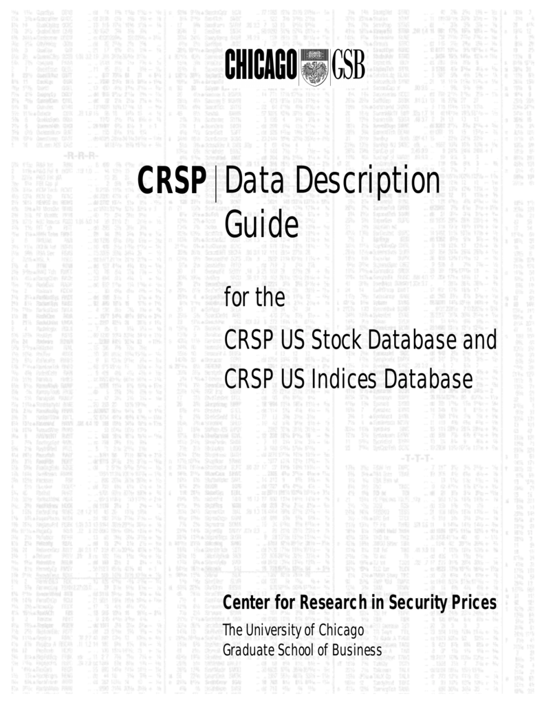 CRSP Data Description Guide