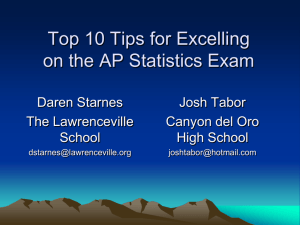 AP Statistics Exam Tips