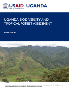 UGANDA Biodiversity and Tropical Forest Assessment Report