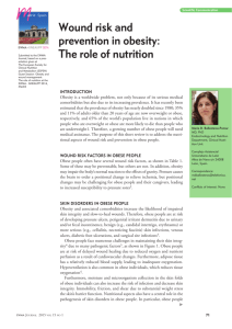 Wound risk and prevention in obesity: The role of nutrition