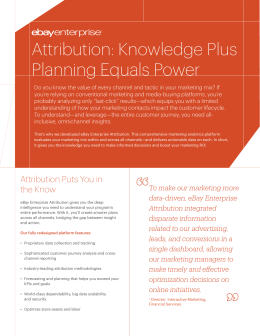 Attribution: Knowledge Plus Planning Equals Power