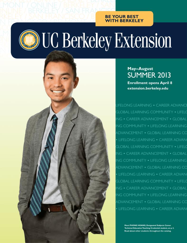 Summer 2013 Catalog Uc Berkeley Extension