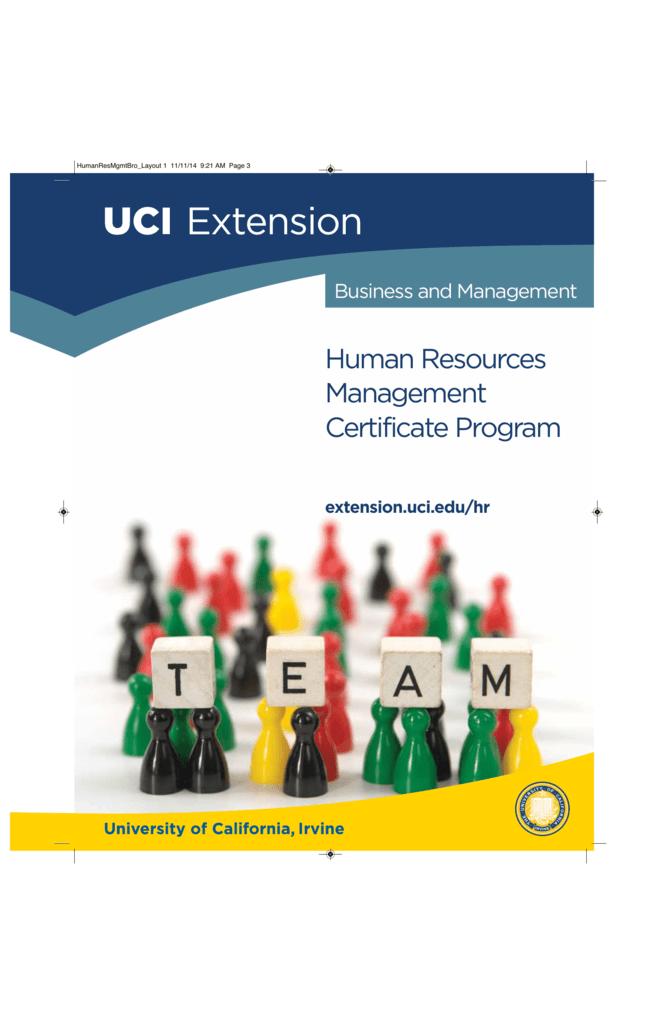 Human Resources Management Uc Irvine Extension